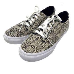 Vans Camden Deluxe Optical B/W canvas sneakers